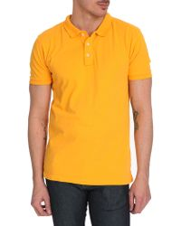Selected Yellow Short-Sleeved Polo Shirt - Lyst