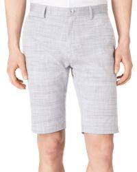Calvin Klein Space Dye Slub Slimfit Shorts - Lyst