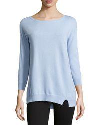 Halston Heritage Three-Quarter-Sleeve Asymmetric Sweater - Lyst