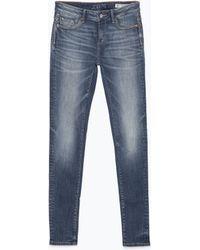 Zara Embroidered Denim Jeans - Lyst