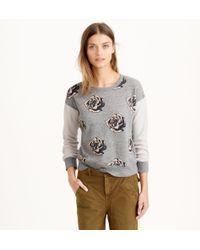 J.Crew Pop Art Flowers Sweatshirt - Lyst