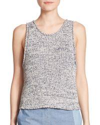 3.1 Phillip Lim Cotton Knit Tank Top - Lyst