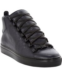 Balenciaga Arena Leather High Top Sneakers - Lyst