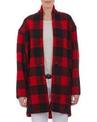 Etoile Isabel Marant Buffalo Check Oversize Sweatercoat - Lyst