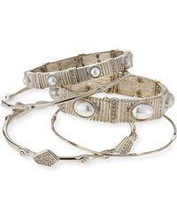 R.j. Graziano - Slip-on Bracelet Set - Lyst