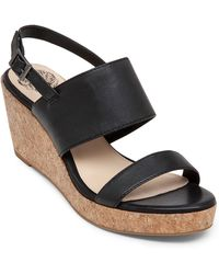 Vince Camuto Ansel Espadrilles Wedge Leather Sandals - Lyst
