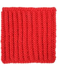 Wool And The Gang | Nellson Red Knitted Snood | Lyst