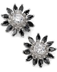 City By City | Jet Cubic Zirconia Flower Stud (5-1/4 Ct. T.w.) | Lyst