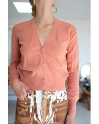 Beklina Cashmere Cardigan Apricot - Pink