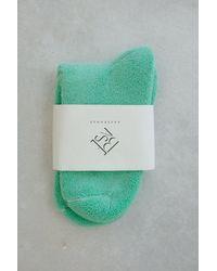 Baserange Buckle Over Ankle Socks Mint - Green