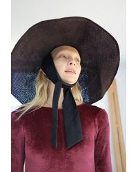 Beklina Straw Tie Hat Henna - Multicolor