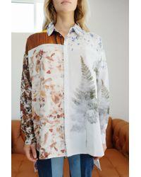 Anntian - Silk Classic Shirt Print Handmade Paper - Lyst