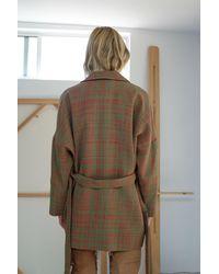 Anntian Binder Jacket Red Green Weave