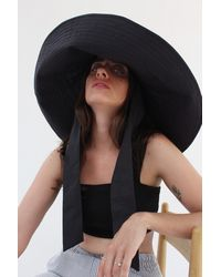 Beklina - Voluminoso Tie Hat Black - Lyst