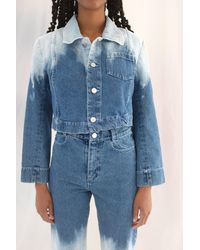 Anntian Mini Jacket Bleached Gradient - Blue