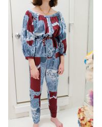 Rachel Comey Solin Jumpsuit Bordeaux - Blue