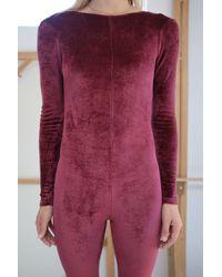 Baserange Odia Unitard Burgundy - Multicolor