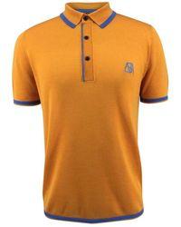 Bellemere New York Men's Two-tone Contrast Polo - Orange