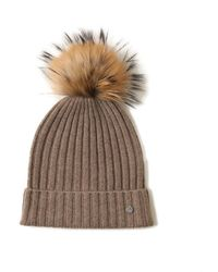 Bellemere New York - Fur Pom Beanie - Lyst