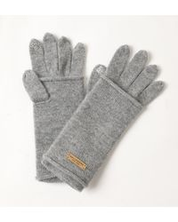 Bellemere New York Touchscreen 100% Cashmere Gloves - Gray