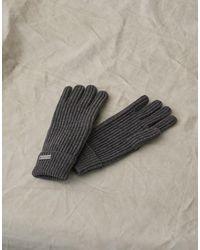 Belstaff Marine Wool Gloves - Grey