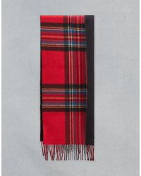 Belstaff Signature Check Double Face Cashmere Scarf - Red