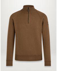 Belstaff Alfie Quarter Zip Sweater - Multicolour