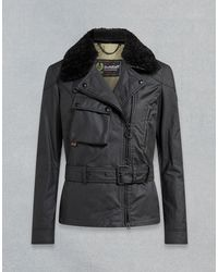 Belstaff Sammy Miller Waxed Jacket With Shearling - Black
