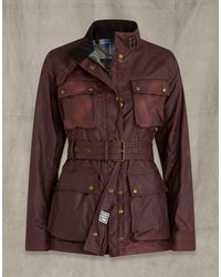 Belstaff Trialmaster Waxed Cotton Jacket - Red