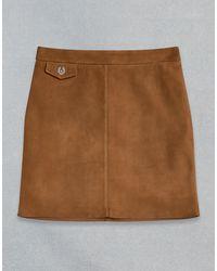 Belstaff Amelia Suede Skirt - Brown