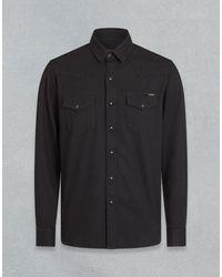Belstaff Hemd im Western-Stil - Schwarz