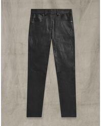 Belstaff Mistley Leather Trousers - Black