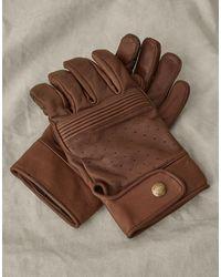 Belstaff Montgomery Wildlederhandschuhe - Braun