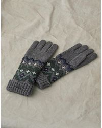 Belstaff Fairisle Wool Gloves - Grey