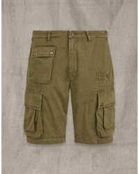 Belstaff Castmaster Cargo Shorts - Green