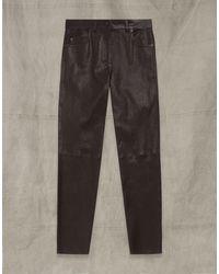 Belstaff Mistley Leather Trousers - Multicolour