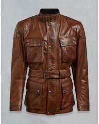 Belstaff Trialmaster Pro Leather Jacket - Brown