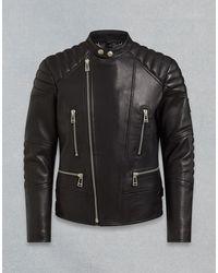 Belstaff Sidney Leather Jacket - Black