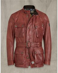 Belstaff Trialmaster Panther 2.0 Leather Jacket - Red