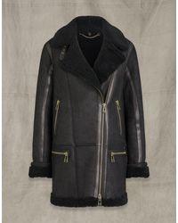 Belstaff Avia Shearling Jacket - Black
