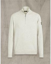 Belstaff Bay Half Zip Sweater - Grey