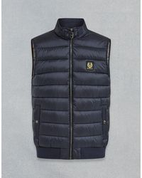 Belstaff Circuit Quilted Gilet - Blue