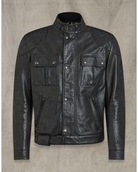 Belstaff Brooklands Leather Jacket - Black