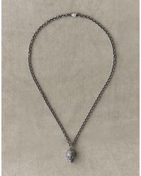 Belstaff Skull Silver Necklace - Metallic