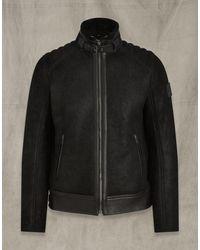 Belstaff Westlake 2.0 Suede Jacket - Black