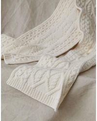 Belstaff Irish Cable Wool Scarf - Natural