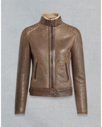 Belstaff Silverlake Leather Jacket - Brown