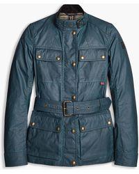 Belstaff Roadmaster Waxed-cotton Jacket - Blue