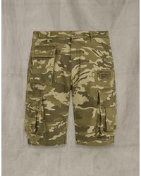 Belstaff Castmaster Camo Shorts - Green
