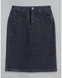 Belstaff Astor Denim Skirt - Blue